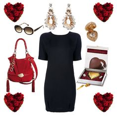 San Valentino Dress Erika Cavallini Semi-Couture Bag Lancel BB Sunglasses Icons of Italy by Vanni Earrings Tataborello Officina Bijoux Chocolate Heart Domori Pendant N2