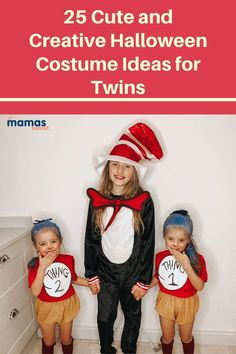25 Twinning Halloween Costume Ideas for Twins That We Love Check out these 25 twins in their Halloween costumes! If you're looking for costume inspiration, we've got you covered. #Halloween #HalloweenCostumes #KidsCostumes