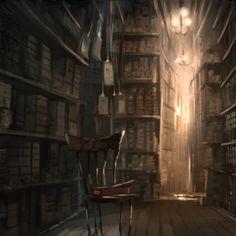 Ollivanders shop in Diagon Alley.