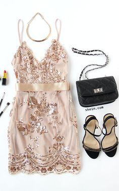 Slip dress+Ankle Strap Open Toe Heels