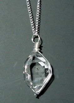 A gorgeous herkimer diamond necklace herkimer diamonds and other beautiful herkimer diamond pendant with a seed crystal aloadofball Gallery