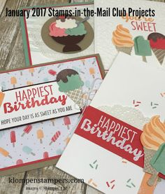 Stampin' Up! Cool Treats.  Awesome new stamp set coming January 2017.  Get a free card kit with a purchase, or better yet, join my monthly club and get a kit every month for free!