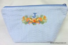 monogrammed cosmetic bag from All About Blanks