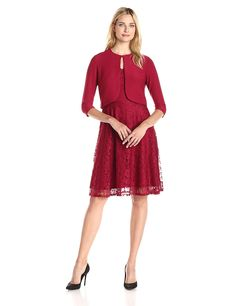 ESG Fashion Women s Wedding Guests Lace Dress Knee Length For