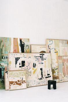 Studio Four — Ashleigh Holmes Art Painting Inspiration, Art Inspo, Tag Art, Art Blog, Art Drawings, Pencil Drawings, Painting Art, Abstract Paintings, Art Paintings