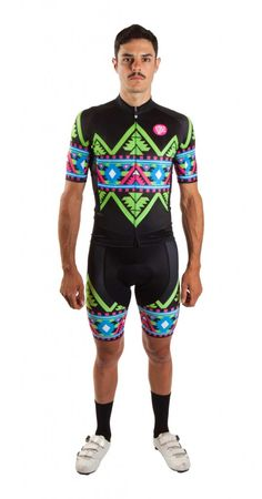 Electro Aztec Cycling Kit by Attaquer