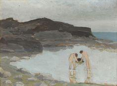 Ernesto Schiess | Badende Knaben im See, 1913 Basel, Bathing, Painting, Oil, Switzerland, Painting Art, Bath, Paintings, Bathrooms
