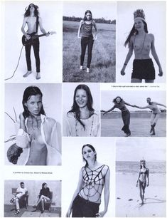 A PORTFOLIO OF KATE MOSS SHOT BY CORINNE DAY AND STYLED BY MELANIE WARD. INTERVIEW, JANUARY 1993.