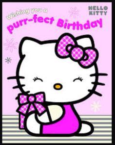 Hello Kitty Birthday Card With Stickers Birthday Photo Shared By . Happy Birthday Kitten, Happy Birthday Qoutes, Hello Kitty Birthday, Cat Birthday, Images Hello Kitty, Hello Kitty Art, Hello Kitty My Melody, Sanrio Hello Kitty, Birthday Greeting Cards