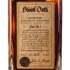 Blood Oath Kentucky Straight Bourbon Whiskey
