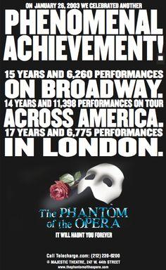 Broadway - 15th Anniversary Window Card