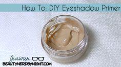 How To: DIY Eyeshadow Primer in 5 Steps! ⋆ Beauty Nerd By Night - annika Diy Eyeshadow, Eyeshadow Primer, Makeup Primer, Nerd Makeup, Diy Makeup, Makeup Ideas, Makeup Tips, Beauty Soap, Diy Beauty
