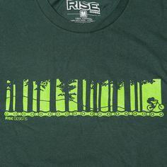 Biking Through the Trees Mountain Biking T-Shirt by risedesigns
