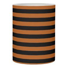 Halloween Stripes Flameless Candle - autumn gifts templates diy customize
