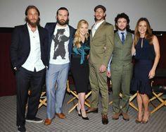 Gustaf Skarsgard. Vikings cast. Travis Fimmel