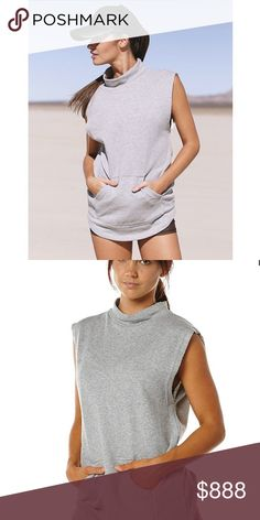 Olympia Activewear Nemea Sweater Olympia Activewear is a brand carried by Free People. Made from cotton, high neck, raw edges, and front pocket. Athleisure wear! ✨Reasonable offers accepted/negotiated with✨ Free People Tops Sweatshirts & Hoodies