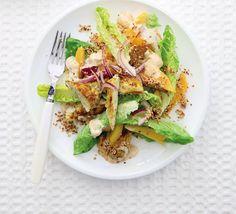 Curried chicken & mango salad
