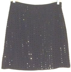 THE LIMITED Black Straight Sheer Skirt - Beads and Sequins - Beautiful! Size 8 #TheLimited #StraightPencil #limited #skirt #black #beads #sequins #sheer #8
