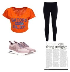 """""""Comfortable look with a split complementary color scheme"""" by shannonbocan on Polyvore featuring NIKE and Blue 84"""