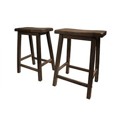 Special Offers - Wooden Saddle Seat Barstool Set of Two (2) 24 Walnut - In stock & Free Shipping. You can save more money! Check It (November 04 2016 at 06:08PM) >> http://counterstoolsusa.net/wooden-saddle-seat-barstool-set-of-two-2-24-walnut/