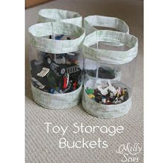 Tutorial: Clear sided fabric buckets