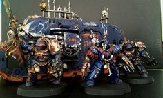 """""""Ave dominus nox"""" les Night lords de Malchy : Chevalier) - Page 18 Warhammer 40000, Space Marine, Nerd Stuff, Marines, Sons, Miniatures, Night, Artwork, Knight"""