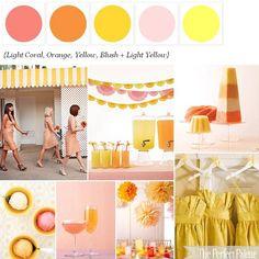 Citrus + Sorbet  http://www.theperfectpalette.com/2012/01/citrus-sorbet-palette-of-soft-orange.html