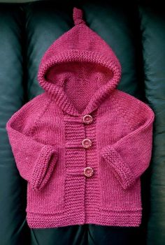 Baby Cardigan Knitting Pattern Free, Baby Boy Knitting Patterns, Hoodie Pattern, Knitting For Kids, Baby Patterns, Free Knitting, Clothes Patterns, Knitting Ideas, Knit Baby Sweaters