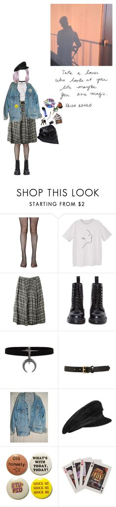 """you are magic"" by coffee-and-jazz ❤ liked on Polyvore featuring Privé, Music Legs, MANGO, Dr. Martens, Tory Burch, Levi's, Hermès, Kate Spade and vintage"