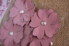 Handmade Flowers in Rose Handmade Paper by Summertimedesign, $4.50