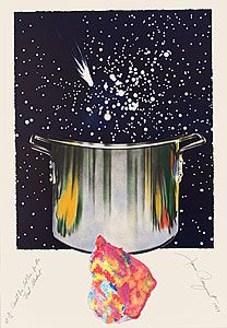 James Rosenquist 'Caught one lost one for the fast student or star catcher' coloured pressed paper pulp, lithograph, collage, Pop Art Movement, Contemporary Art Prints, Selling Art, Mixing Prints, Painted Signs, Lovers Art, Screen Printing, Original Artwork, Artsy