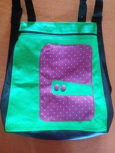 #mochila #verde #neon #rosa #pink #ilovecolors