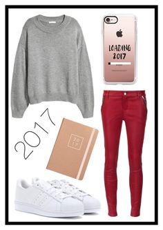 """#590 happy new year"" by xjet1998x ❤ liked on Polyvore featuring RtA, adidas and Casetify"