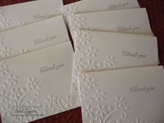 Clean and Simple (and retiring).--- features Stampin' Up's! Elegant Bouquet embossing folder