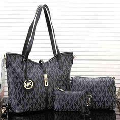 MK Women Shopping Bag Leather Tote Handbag Shoulder Bag