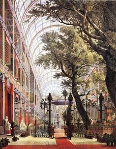 'Crystal Palace, Opening 1851 Mayday by Queen Victoria of the Great Exhibition in Hyde Park, London'