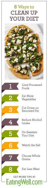 10 Ways to Eat Clean - Learn how to clean up your diet with these 10 healthy tips.