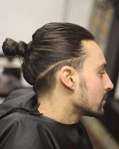 Afbeeldingsresultaat voor asian men long hair ponytail