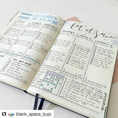 Beautiful like drifts of snow on a cold, clear day. @blank_space_bujo (#bulletjournalcollection)