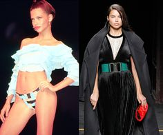Walking the Rygy show at Sao Paolo Fashion Week in January 2000, and at the Balmain Fall/Winter 2015 presentation earlier this year. Few models have straddled the line between commercial and high fashion as expertly as Adriana Lima. After debuting at an Anna Sui show during New York Fashion Week in 1997 (at just 16 years old), Lima signed with Victoria's Secret in 1999 and had her first major runway season the next year.   - HarpersBAZAAR.com
