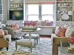 Window+treatments+don't+have+to+be+fussy.+Karianne+from+Thistlewood+Farms+proves+this+by+using+a+small+piece+of+drop+cloth+trimmed+with+a+bright+pink+grosgrain+ribbon+as+a+valance.+Without+pleats,+ruffles+or+folds,+this+treatment+is+simple+but+chic.