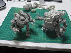 Upcoming orc walker and Enforcer Battlewalker from Mankind faction.