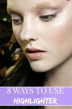 how to use highlighter makeup
