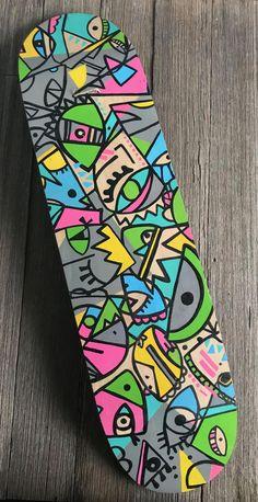 Skateboard Deck - Wallart by ApostlesToxin on Etsy Painted Skateboard, Skateboard Deck Art, Skateboard Parts, Skateboard Design, Custom Skateboard Decks, Custom Skateboards, Cool Skateboards, Hobbies To Try, Hobbies For Women