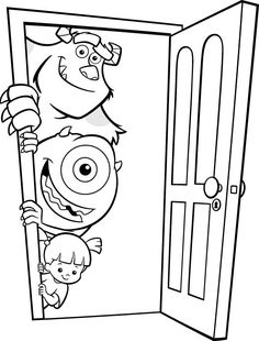 Monsters Inc Coloring Pages Make your world more colorful with free printable coloring pages from italks. Our free coloring pages for adults and kids. Monster Coloring Pages, Cool Coloring Pages, Cartoon Coloring Pages, Printable Coloring Pages, Adult Coloring Pages, Coloring Pages For Kids, Coloring Books, Kids Coloring Sheets, Coloring Pictures For Kids