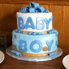 Baby Boy birthday cake.