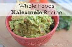 Whole Foods Kaleamole Recipe. Great for your Super Bowl Party