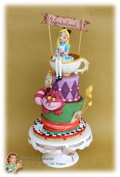 Alice in Wonderland cake - Cake by Vicious & Delicious by Sara Solimes