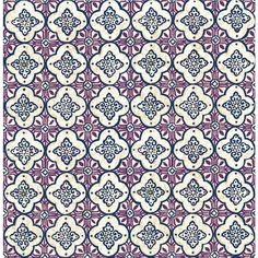 Brewster Wallcovering Violet Strippable Non-Woven Paper Unpasted Classic Wallpaper