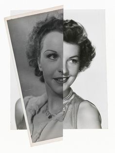 Photo Manipulation & Collage / John Stezaker, She (Film Portrait Collage) II2008 collage